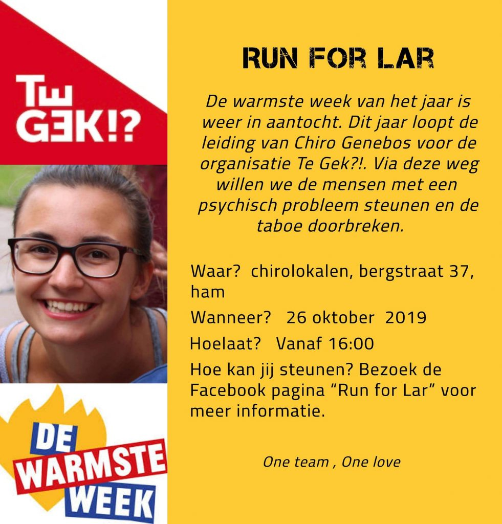Run For Lar @ Chirolokalen Genebos